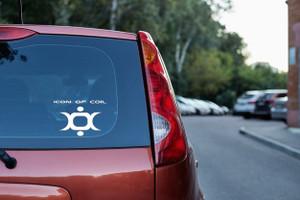 "Icon of Coil - Logo 5x3.5"" Vinyl Cut Sticker"