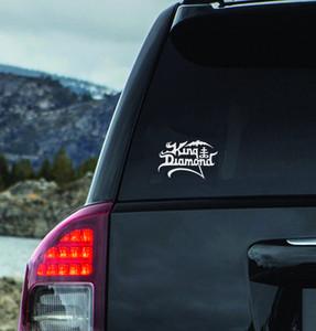 "King Diamond - Logo 6x4"" Vinyl Cut Sticker"