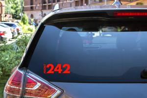 "Front 242 8x3"" Vinyl Cut Sticker"