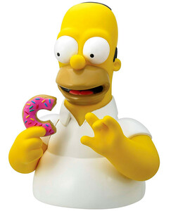 The Simpsons - Homer With Donut Bust Coin Bank