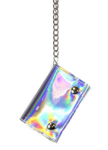 Silver Rainbow Chained Wallet