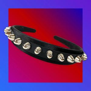 Stud Headband With Leather