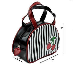 Cherry With Stripes Handbag