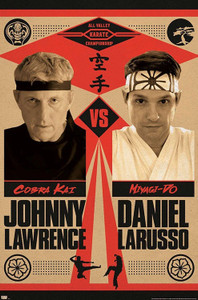 """Cobra Kai - Johnny vs Daniel 24x36"""" Poster"""