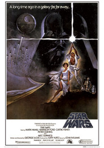 "Star Wars A long Time Ago In a Galaxy Far Far Away... 24x36"" Poster"