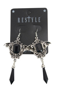 Gothic Earrings With Bat Wings
