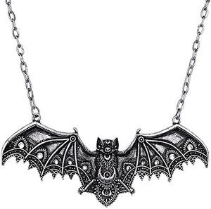 Lace Silver Bat Pendant