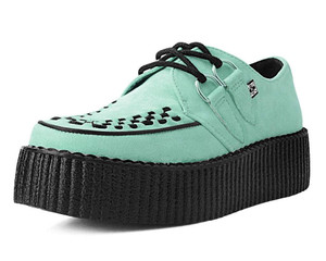 Mint Suede D-Ring Interlace Creepers