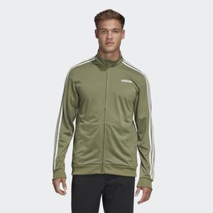 Adidas Men's Essentials 3-Stripe Green Tricot Track Jacket
