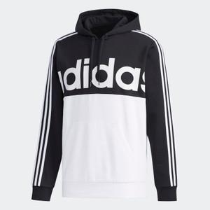 Adidas Essentials Colorblock Black & White Pullover Sweatshirt