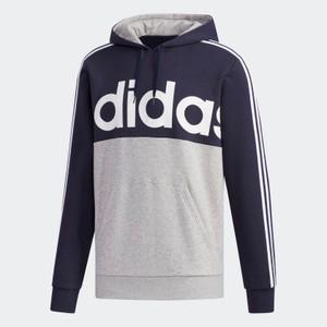 Adidas Essentials Colorblock Blue & Grey Pullover Sweatshirt
