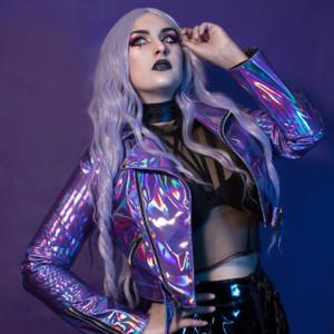 Ultraviolet Purple Hologram Vinyl Jacket
