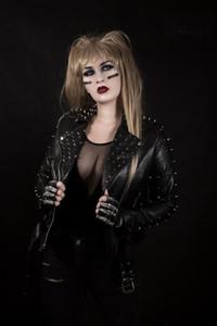Motley Glam Vegan Leather Womens Studded Jacket