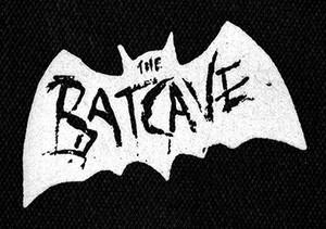 "White Batcave Logo 6x4"" Printed Patch"