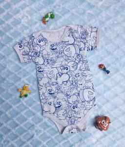 Mario Bross -  Baby Onesie
