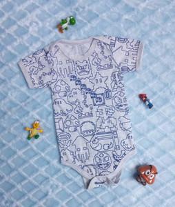 Mario Bross 8-Bit -  Baby Onesie