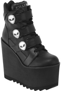 She´s Out There Wedge Alien Platforms Bootie Sneakers