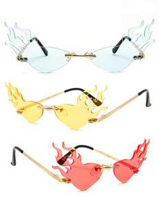 Blaze - Fashion Cat Eye Fire Flame Sunglasses