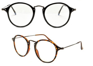 Moment Clear - Classic Round Unisex Clear Glasses