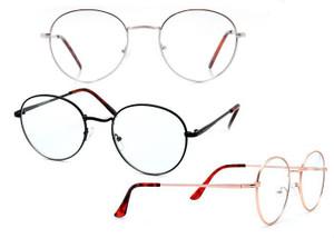 Modern Minimalist Round Blue Light Glasses