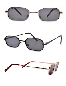 Bernie - Rectangular Sunglasses Metal Frame
