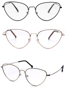 Deluxe Clear - Thin Metal Cat Eye Glasses Transparent