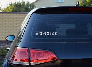 """Agonoize - Logo 7x1"""" Vinyl Cut Sticker"""