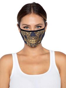 Gold Foil Skull Face Mask