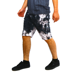 Tie Dye Grey Bermuda Shorts