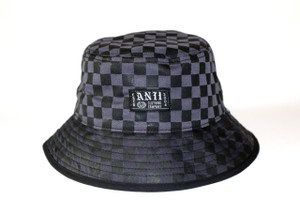 Grey Chess Bucket Hat
