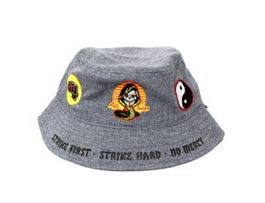 Grey Cobra Kai Bucket Hat