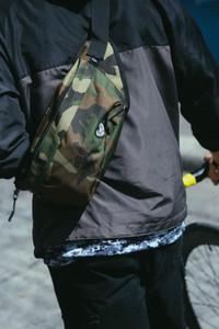 Olive Green Camo Waist Bag