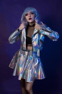 Silver Moon Hologram Vinyl Jacket