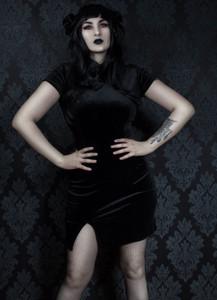 Black Japanese Goth Dress