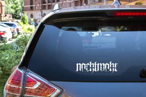 """Nachtmahr - Logo 6x1.5"""" Vinyl Cut Sticker"""