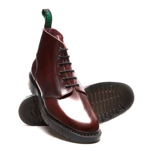 Solovair 6i Burgundy Rub-Off Astronaut Boots *Made in England*