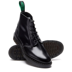 Solovair 6i Black Black Derby Astronaut Boots *Made in England*
