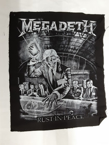 Megadeth - Rust In Peace B&W Test Backpatch