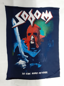 Sodom - In The Sign Of Evil Blue Test Backpatch