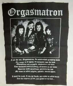 Motorhead Band Orgasmatron Test Backpatch