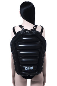 Black Inflatable Mall Goth Backpack