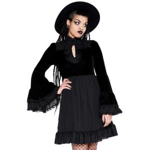 Goth Lost Girl Ruffle Dress