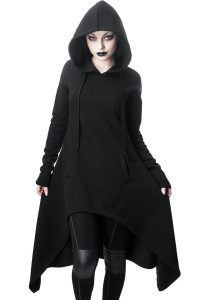 Black Dungeoness Oversized Hoodie Cape