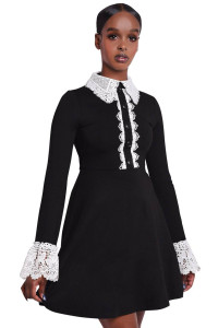 Blessed Be Collar Dress with Buttons