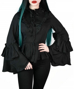 Maiden Of The Night Flared Sleeves Blouse
