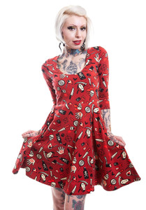 True Crime Skater Dress with Sleeves