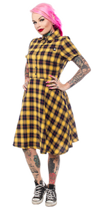 Flannel Yellow Plaid Button Shirt
