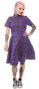 Purple Plaid Button Shirt