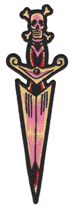 Embroidered Dagger Patch