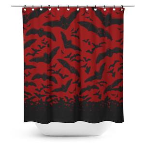 Printed Spooksville Bats Shower Curtain